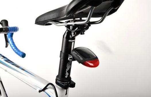 Luz trasera para bicicleta solar, contra agua