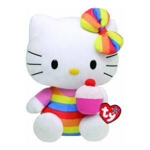 Peluche Hello kitty Arcoiris marca Ty