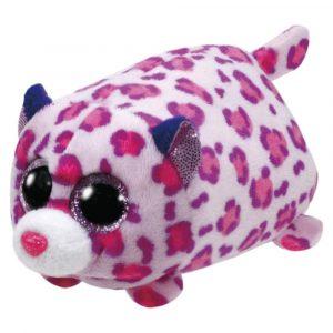 Peluche Olivia Leoapdo rosado con manchas Teeny marca Ty