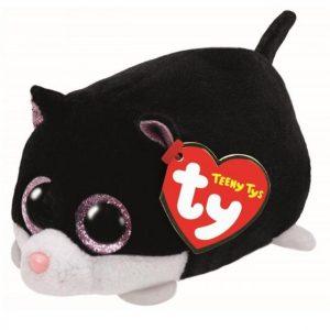 Peluche Perrita negra con ojos rosados Teeny marca Ty