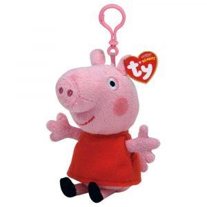 Peluche Clip de Peppa Pig vestido rojo marca Ty