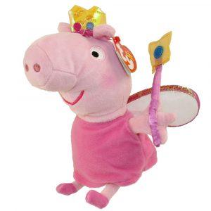 Peluche mediado de Peppa Pig Princesa marca Ty