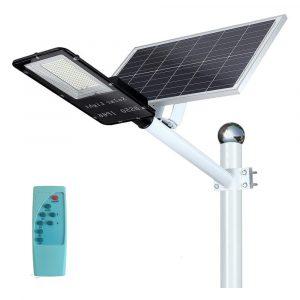 Luz de Calle con Panel Solar con Montura para Poste - Montura color Negro