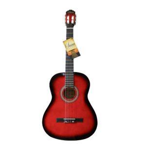 """Guitarra Acustica marca Sara Con Funda de 39"""" color Rojo"""