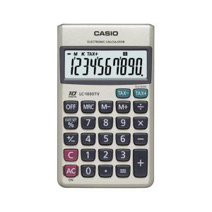 Calculadora Portatil LC-1000TV-W marca Casio