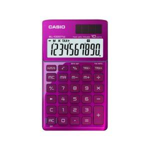 Calculadora de Bolsillo SL-1000TW marca Casio color Rosado