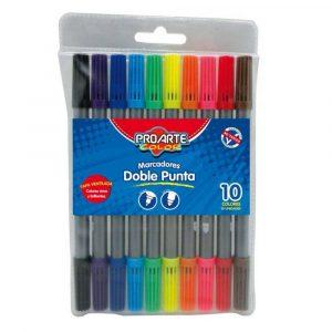 Marcador Doble Punta 10 Colores ProArte