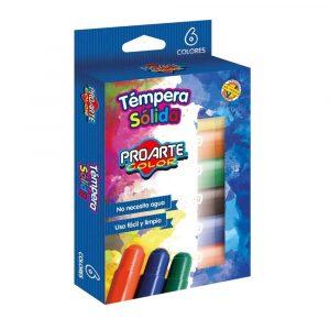 Tempera Solida 6 Colores ProArte