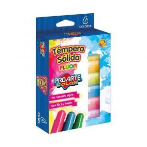 Tempera Solida Neon 6 Colores ProArte