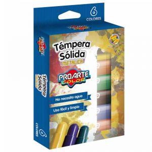 Tempera Solida Metalica 6 Colores ProArte