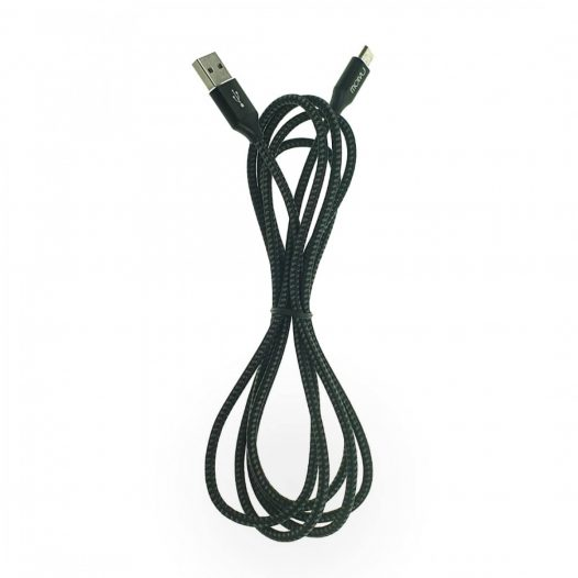 Cable Molvu USB-Tipo C de 2 Metros Reforzado Gris