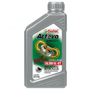 Aceite Castrol 20W50 Actevo Xtra para motos 1QT