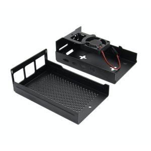 Case de Aluminio con Ventilador para Raspberry Pi 4 Modelo B
