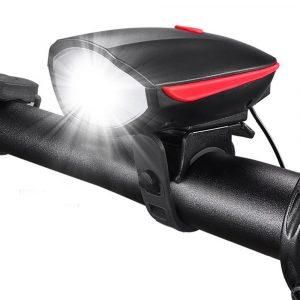 Linterna para bicicleta recargable con bocina Rojo