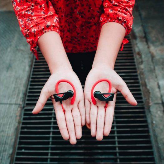 Audifonos Bluetooth Molvu X Rojo