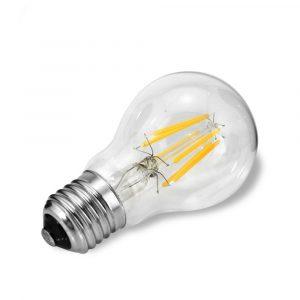 Bombilla de bulbo lente claro, base E27, 4 watts, temperatura de color 2700K (Cálida)