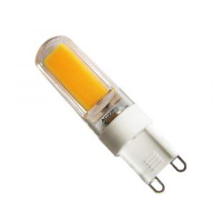 Bombilla tubular, base G9, 2.5 watts, temperatura de color 3000K (Cálida)