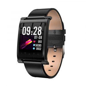 Reloj Inteligente K6 pulsera Cuero Negro