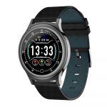 Reloj Inteligente Q28 pulsera Cuero Negro