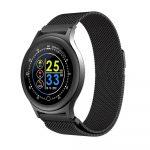 Reloj Inteligente Q28 pulsera Metal Negro