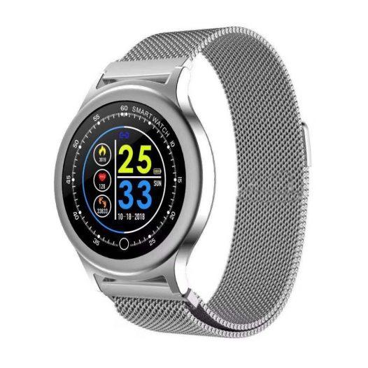 Reloj Inteligente Q28 pulsera Metal Plata