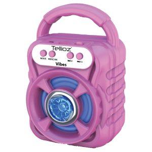 Bocina Bluetooth Portátil Tellioz Rosa