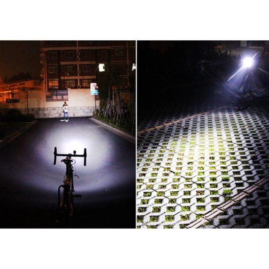 Linterna para bicicleta recargable con bocina Celeste