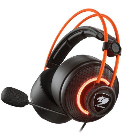 Audifonos Cougar Gaming USB IMMERSA PRO Prix 7.1 RGB Alámbrico Negro con Naranja