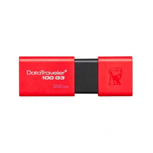Memoria USB de 32GB Kingston USB 3.0 100 G3 Rojo