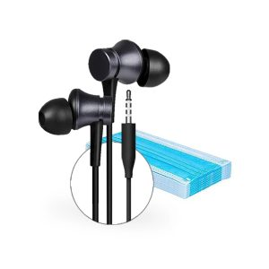 Combo Audífonos Xiaomi Mi Ear Headphones Basic + 5 Mascarillas Gratis