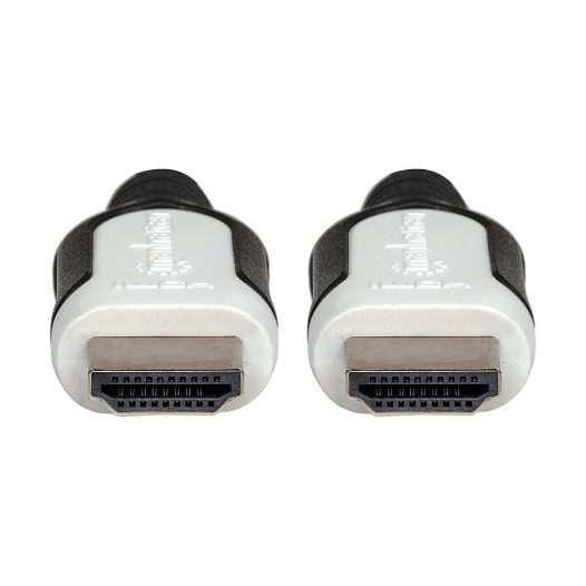 Cable HDMI Trenzado con Canal Ethernet 3m Negro Manhattan
