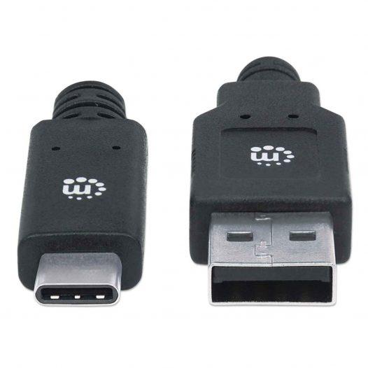 Cable USB tipo C a USB A 3.1 Gen1 - 2 Metros Manhattan