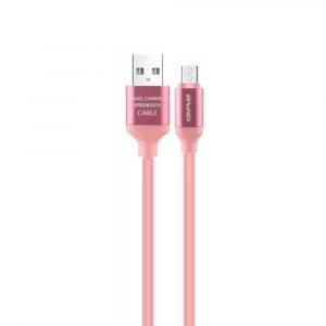 Cable de carga y transferencia de datos Micro USB CL-81 Rosa Awei