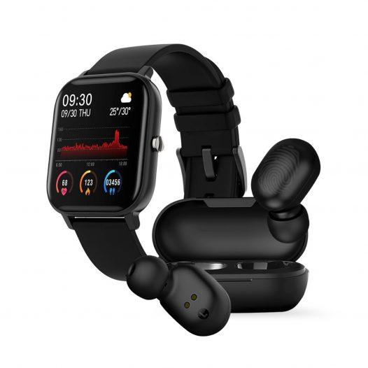 Combo Reloj Inteligente Colmi P8 + Audífonos Bluetooth Haylou GT1 Plus