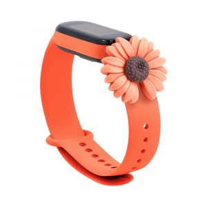 Pulsera para Xiaomi Mi Band 5 Diseño Girasol Naranja