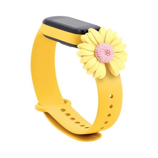 Pulsera para Xiaomi Mi Band 5 Diseño Girasol Amarillo