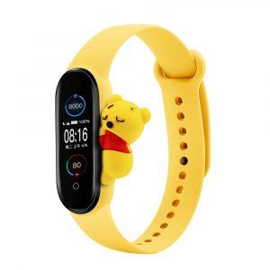 Pulsera para Xiaomi Mi Band 5 Diseño Oso Amarillo