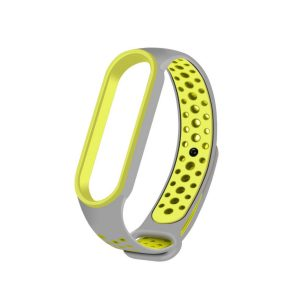 Pulsera Transpirable para Xiaomi Mi Band 5 color Gris con Verde