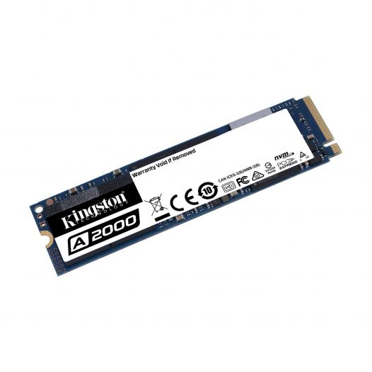 Unidad de Estado Solido de 500GB Kingston A2000 M.2 2280