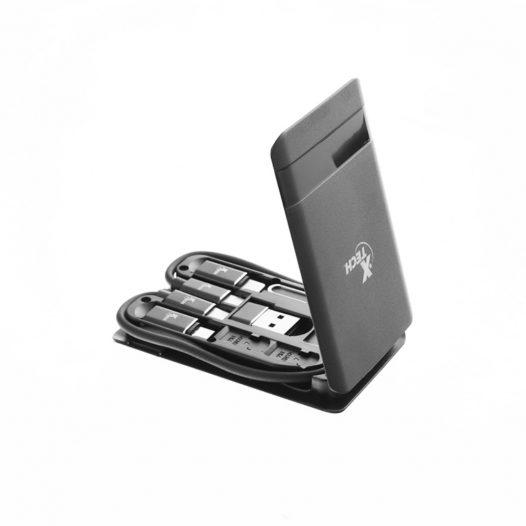 Estuche portátil multifuncional para almacenamiento con cable Tipo C