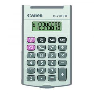 Calculadora de mano Canon LC-210Hi III de 8 dígitos Gris
