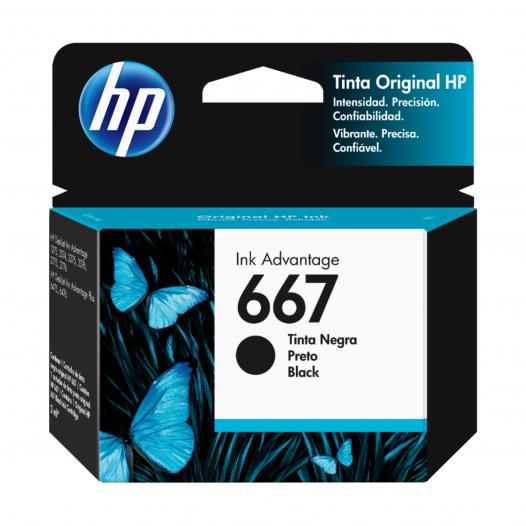 Cartucho HP #667 Color Negro