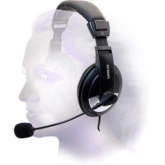Audífonos Alámbricos Estéreo Pro 75 3.5mmx2 Negros Argom