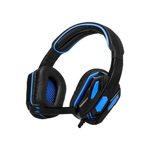 Audífonos Gaming Combat USB Negros con Azul Argom