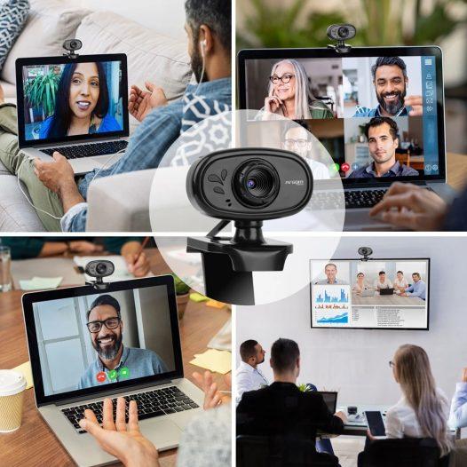 Cámara Web HD 720p con Micrófono Negro Argom