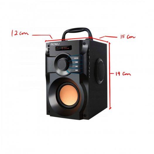 Bocina Bluetooth Recargable 18W Molvu Negra