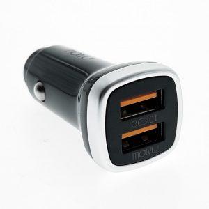 Cargador USB para Carro 2.4A Molvu Negro