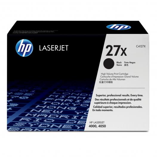 Tóner HP 27X Negro Alto rendimiento Laserjet Original (C4127X)