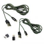 Pack de Cables de Carga 1 Lightning + 1 Micro-USB Molvu