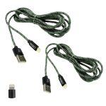 Pack 2 Cables de carga Lightning para Iphone 2m Molvu